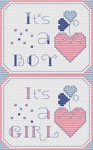 It is a Boy free cross stitch pattern