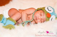 Crochet Baby Sleepy Owl Hat by homeschoolma on Etsy, $25.00