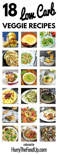 18 Low Carb Vegetarian Recipes #healthy #lowcarb | http://hurrythefoodup.com