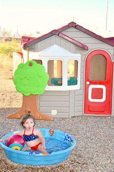 Summer fun Abby's playhouse redo