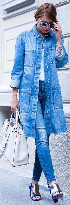 Long Over Due: Our Denim On Denim Trend File – Outfits And Ideas