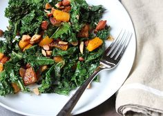 kale salad with butternut squash and almonds | TWELFTH AVENUE