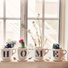 Anthropologie Monogram Mugs