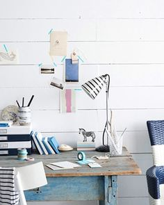 this is exactly how my desk is going to look in my beach house.....when I build it....one day