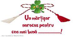 Felicitari personalizate de 1 Martie - Un mărțișor norocos pentru cea mai bună ...! Martie, Christmas Ornaments, Holiday Decor, Christmas Jewelry, Christmas Decorations, Christmas Decor