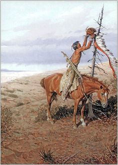 """Painting by Tom Lovell - """"A Warrior No More"""" Native American Games, Native American Models, Native American Paintings, Native American Pictures, Indian Paintings, Abstract Paintings, Oil Paintings, Native Indian, Native Art"""