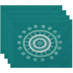 Simply Daisy 18 inch x 14 inch Beachy Keen Geometric Print Placemat, Blue