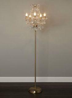 Georgette 5 light chandelier floor lamp - floor lamps - Home, Lighting & Furniture Chandelier Floor Lamp, Diy Floor Lamp, Floor Lamp Shades, Arc Floor Lamps, 5 Light Chandelier, Black Floor Lamp, Vintage Chandelier, Chandelier Makeover, Lamp Makeover