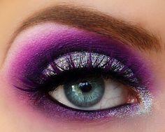 Purple on blue