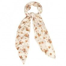 Divinity Collection Off White and Peach Floral Hijab