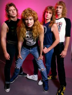 Megadeth Chris Poland, Dave Mustaine, David Ellefson and Gar Samuelson.