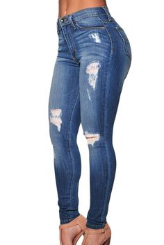 The perfect-fit jeans you've been dreaming of.. designed with you in mind, these stretchy jeans help lift and show your curves. Added with a slim, skinny fit and the just-right distressing. You can't
