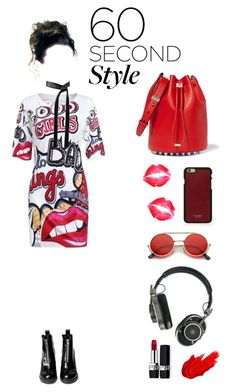 """""""(BTS) War of Hormone"""" by deadlynight ❤ liked on Polyvore featuring WithChic, Michael Kors, Alexander Wang, Vianel, Master & Dynamic, Christian Dior, Maybelline, bts, tshirtdresses and 60secondstyle"""