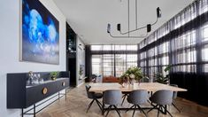 The Block 2018 Bianca and Carla's Living and Dining Room Perth, Brisbane, Melbourne, Sydney, The Block Australia, Parquetry Floor, French Oak, Dining Room Furniture, Interior Design