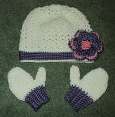 hat and mitten set made for my great niece