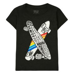 Californian Vintage Skateboard T-Shirt Dark grey