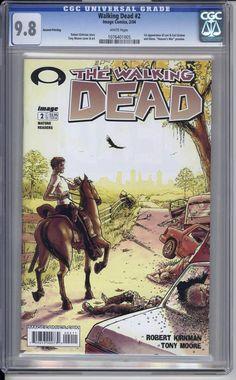 Walking Dead #2, Second print  CGC 9.8  Rick cover.