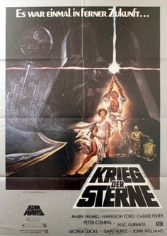 Star Wars A New Hope (Episode IV), 1978 - original vintage poster by Tom Jung… Mark Hamill, Harrison Ford, Carrie Fisher, Vintage Movies, Vintage Posters, Alec Guinness, Star Wars Episode Iv, Star Wars Pictures, Cinema Posters