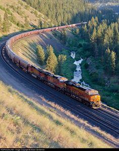 RailPictures.Net Photo: 7362 Burlington Northern Santa Fe GE ES44DC at Spokane, Washington by Adam Genteman