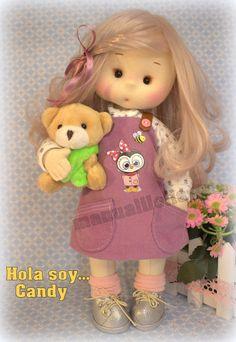 visita mi canal manualilolis Sewing Doll Clothes, Sewing Dolls, Harajuku, Teddy Bear, Toys, Animals, Style, Waldorf Dolls, Fabric Dolls