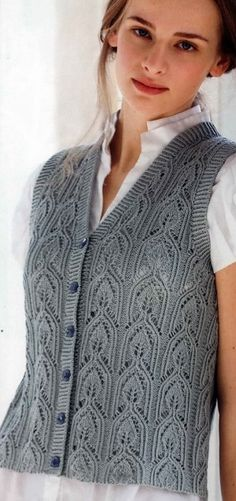 Poncho Knitting Patterns, Knitted Poncho, Knit Patterns, Knit Jacket, Free Pattern, Lace, Jackets, Clothes, Fashion