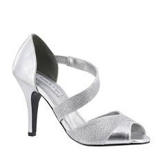 Large Size Women/'s Silver Glitter Mesh Ankle Shoe Boots UK 10 PLUS SIZE