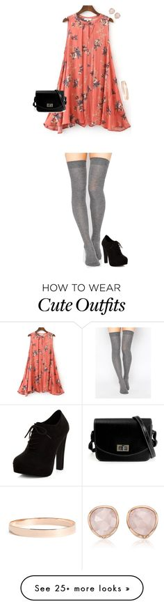 """""""Cute Outfit"""" by sarahlong3019 on Polyvore featuring New Look, ASOS, Monica Vinader and Lana Jewelry"""