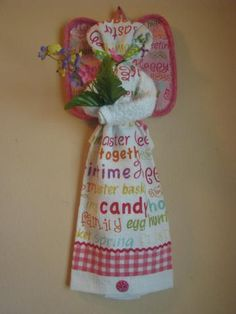 4a64ea936b3b2 Happy Easter #zibbet Dish Towel Crafts, Dish Towels, Kitchen Towel Cakes,  Kitchen