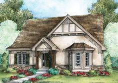 Search our collection of house plans by over 200 designers and architects to find the perfect home plan to build. All house plans can be modified. Cottage Floor Plans, Cottage House Plans, Cottage Homes, House Floor Plans, Cottage Ideas, House Plans One Story, Dream House Plans, Small House Plans, Dream Houses