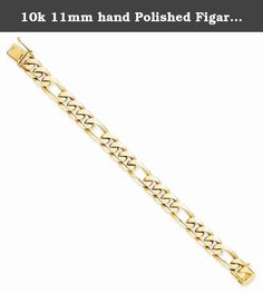 10k 11mm hand Polished Figaro Chain, Best Quality Free Gift Box. This adds a sense of charm to your favorite collection.10k 11mm hand Polished Figaro Chain. Model No.: 10LK110-8. 10k Yellow Gold. Product Type: Jewelry. Jewelry Type: Bracelets. Material: Primary: Gold. Material: Primary - Color: Yellow. Material: Primary - Purity: 10K. Sold By Unit: Each. Chain Length: 8 in. Chain Width: 11 mm. Got questions about this item? If you wish to know any additional info or have any additional...