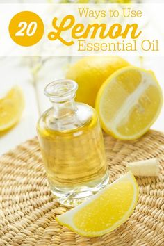 20 Ways to Use Lemon Essential Oil -  practical uses to help you in your home and health!