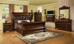 6PC Bedroom Set with Ash Finish and Distressed Character Marks - King $2999.99