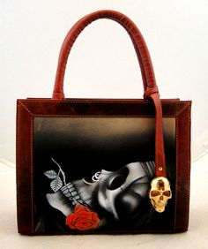 Handmade Tattoo Bag: Double Face Small (Skull'n'Roses)
