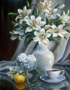 Vopobyeva Olga / Russia Source by alayyayemez Pour Painting, Painting & Drawing, Colour Pencil Shading, Still Life Flowers, Creation Photo, Still Life Art, Art Floral, Pictures To Paint, Flower Art