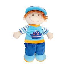 De vriend waar je altijd op kan rekenen voor een knuffel -lappenpop Paul. Hij is een blauwe outfit gestoken en draagt een blauw witte pet. Paul is gemaakt van materialen van hoge kwaliteit en met oog voor detail, echt vakmanschap. Zeer geschikt als eerste pop. Gemaakt van lekker zachte materialen met aandacht voor de behoeftes van het kind.