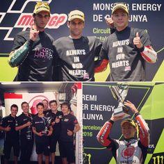 Takaaki Nakagami カタルーニャGP決勝、追い上げて3位表彰台を獲得しました👍🏼難しいレースだったけど、諦めず粘って良いレースが出来ました!チームそして応援してくれているファンの皆さんに感謝です