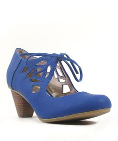 Look at this Chelsea Crew Blue Vinny Pump on #zulily today!