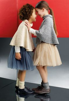 tutus capes and oxfords, adorable styling #kids #fashion
