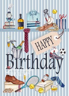 Happy Birthday... Flowers & Motives | Cartita Design ©2013