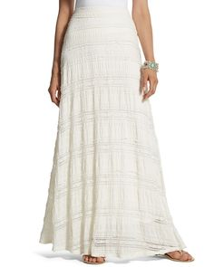 Lia Textured Lace Maxi Skirt