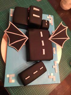 Enderdragon cake #minecraft
