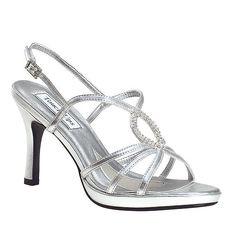 Women&39s SILVER Prom Wedding LOW Heel Dress Sandal Shoes