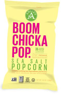 Angie's Boomchickapop popcorn is naturally gluten-free and you can eat 4 cups in a serving!
