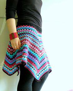 Little Crochet: Granny Square Challenge - The Skirt Reveal