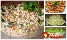 Vymeňte ryžu a zemiaky za tieto šaláty a kilá pôjdu dolu: Najlepšie šaláty na chudnutie a dobré trávenie! Cottage Cheese, Salads, Food And Drink, Low Carb, Rice, Healthy Recipes, Vegetables, Cooking, Breakfast