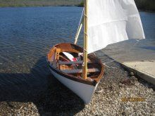 GRACE is a Hvalsoe 13 ...designed as a traditionally built lapstrake sail/row boat ...converted to glued lap. Builder Name: Richard J. Jones