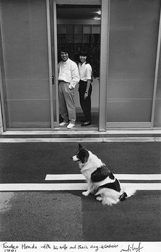 Ando with his wife and their dog, Le Corbusier in 1991 #architects
