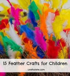 These 15 feather crafts offer some great ideas for art, craft and activities for children.