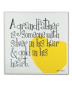 Look at this #zulilyfind! 'Grandfather' Plaque by  #zulilyfinds