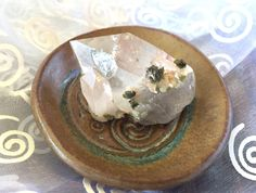Healing and Grounding Natural Inclusion Quartz with Epidote in the House! Great Specimen for a Great Price! by shspirithouse on Etsy